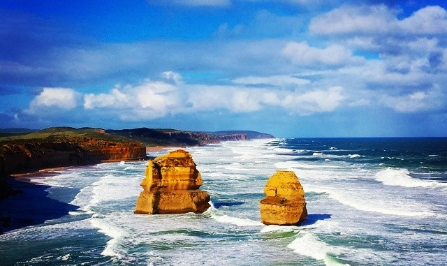 The famous 12 Apostles on the Great ocean Rd