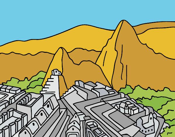 Machu Picchu Dibujo Para Coloriar Imagui