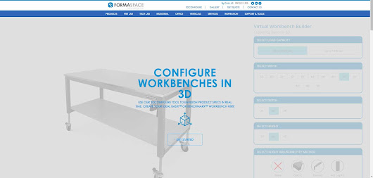 Formaspace Launches a New Website with Smart Content & 3D Workbench Builder | Formaspace