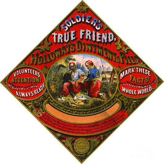 Patent Medicine Label 1862 by Padre Art