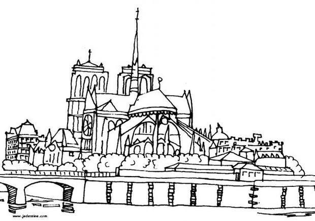 Coloriages Notre Dame De Paris Frhellokidscom