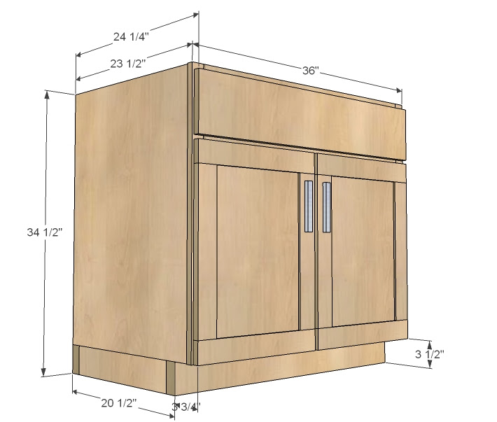 Kitchen Cabinet Drawings: Kitchen Cabinets Standard Size