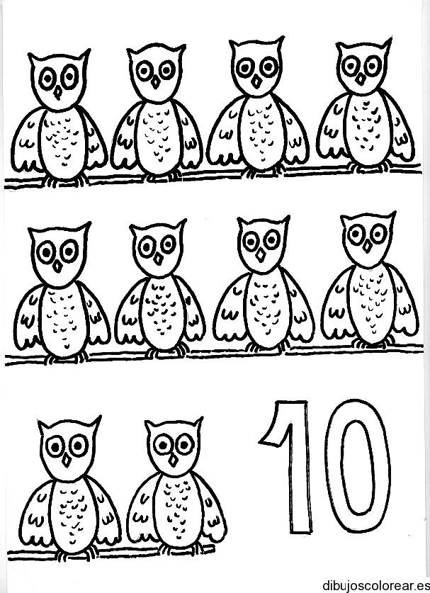 Dibujo Del Número 10