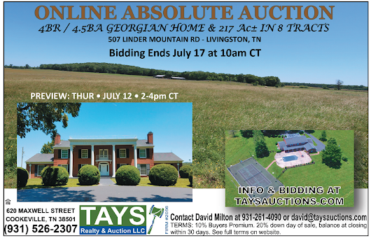 TAYS REALTY & AUCTION - ONLINE ABSOLUTE AUCTION - AuctionsAcrossTN.com