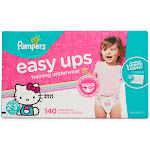 Pampers Easy Ups Training Underwear, 140 Count, Girls 2T-3T 140 Ct. - Girls 2T-3T