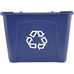 Rubbermaid Commercial 5714-73-blue Stackable Recycling Box, 14 Gallon, Blue