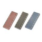 3 DMT Diamond Stones, 70 mm, Black, Blue, Red