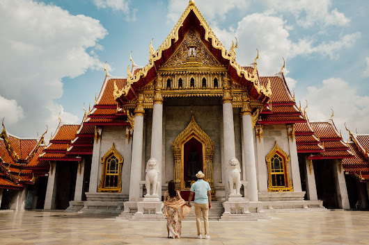 Lidice and Luis at Marble Temple, Bangkok