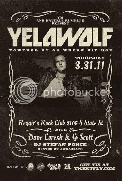Yelawolf,Chicago,Shon Roka,Reggie's,Brickheadz,Music,Alabama
