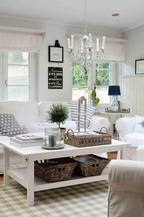 Wohnzimmer gestalten landhausstil