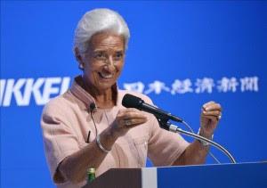 La directora del Fondo Monetario Internacional (FMI), Christine Lagarde.EFE