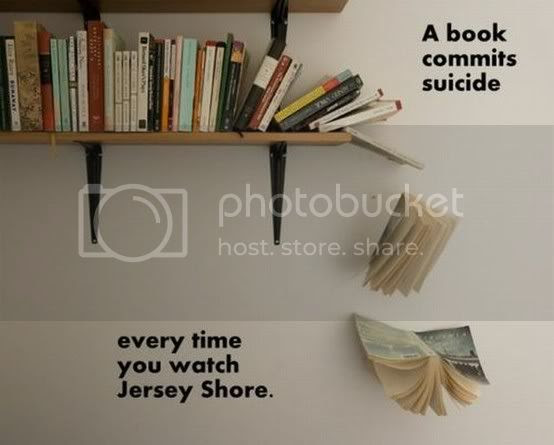 book suicide because of jersey shore