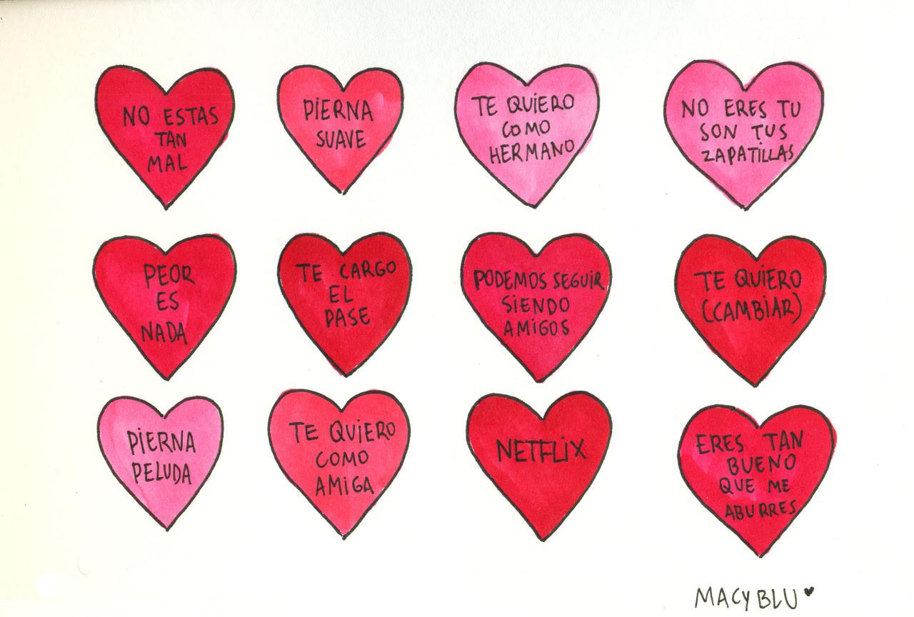 Amor Dibujos 14 De Febrero Día De San Valentín Corazones Macyblu