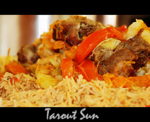 arabic, kabsah, rice, main dish, chicken, meat, chili, cooking, food