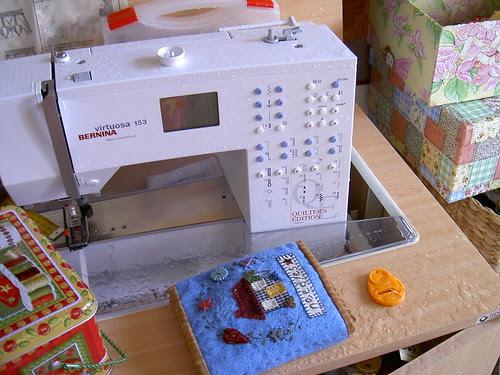 Sewing machine - flood January 2006
