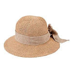 Women's San Diego Hat Company Paper Concentric Brim Cloche Hat PBM3020, Adult, Size: One Size (21), Tobacco