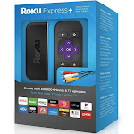 Brand New Roku Express+ HD Streaming Media Player and Composite Cable