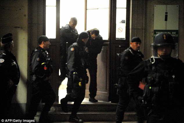 Imprisoned: Goran Drazic (centre, in 2008), was jailed for ten years in the 'Pink Panthers' trial in 2008