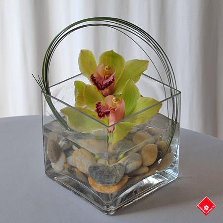 Orchid arrangement for Secretaries Day in Montreal