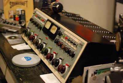 Microphone in the Norman Petty Recording Studios, Clovis, New Mexico