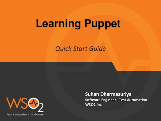 Puppet quick start guide