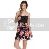 Roxy Womens Polka Dot Floral Savage Dress