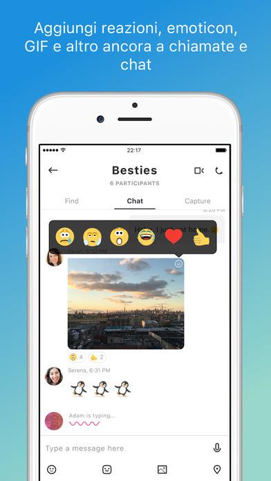 L'app Skype per iPhone si aggiorna alla vers 8.1