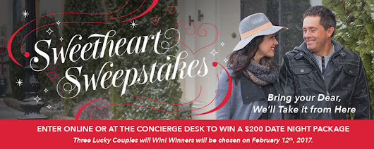 Sweetheart Sweepstakes - Date Night Package!