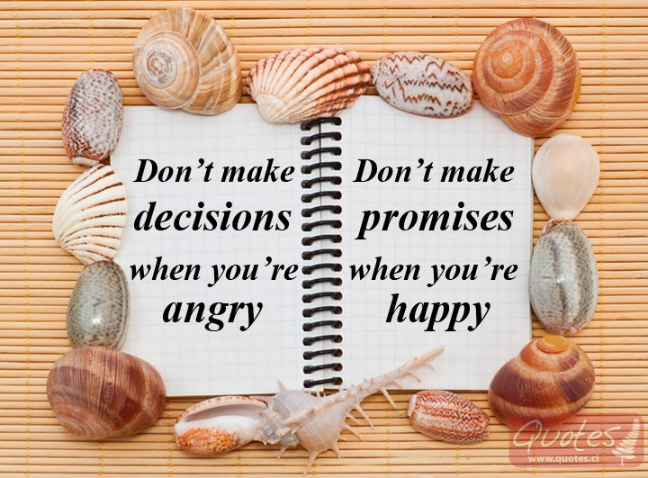 Making Decisions And Promises Quotes