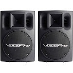 VocoPro PV-802 Speakers - for stage - Pair - Black