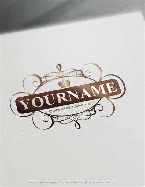 Free Logo Maker   Decorated Royal Frame Logo   Royal Crown