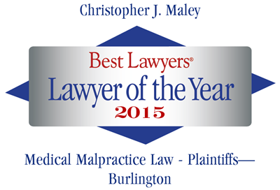 "Vermont Medical Malpractice Attorney Christopher Maley Receives ""Lawyer of the Year"" Distinction"
