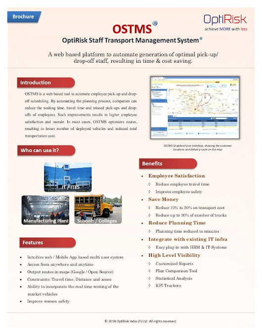 OptiRisk Staff Transport Management System (OSTMS) - Brochure