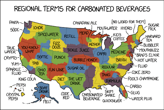 2108: Carbonated Beverage Language Map - explain xkcd