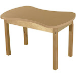 Wood Designs HPL2436C14 24 x 36 in. Synergy Junction High Pressure Laminate Table with Hardwood Legs - 14 in.