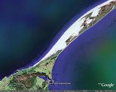 satelite picture beach Puponga