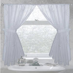 "Carnation Home ""Ava"" Fabric Window Curtain"