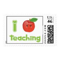 I Heart Teaching Postage