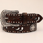 M&F Western A1518602-M 1.5 in. Ladies Ariat Embossed Concho Bets Brown - Medium