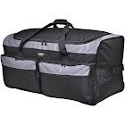 "Travelers Club 36"" Collapsible Multi-Pocket Duffel Bag, Grey/Black"