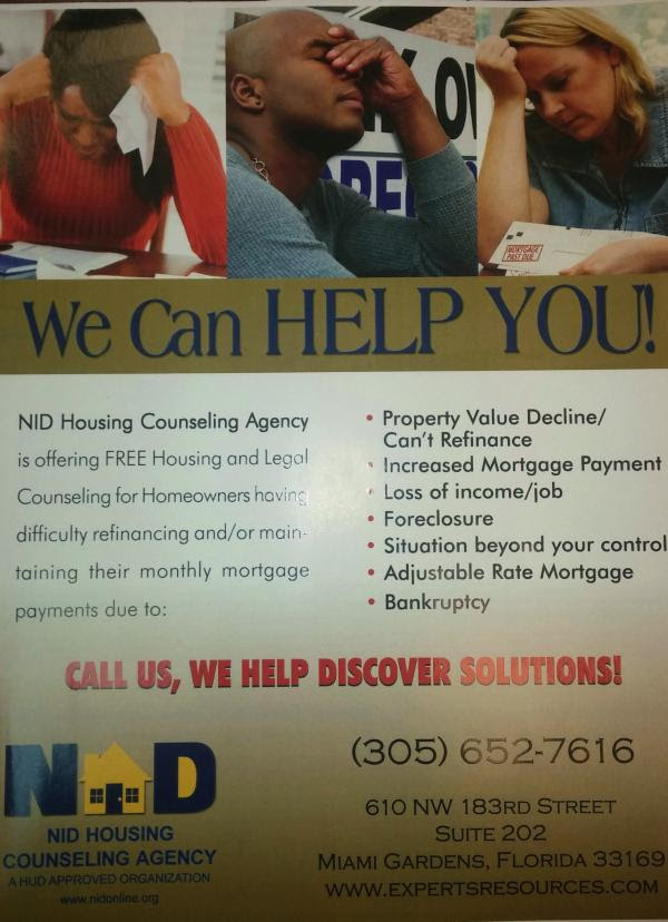 NID Housing Counseling Agency - South Florida Ad | Free Ads
