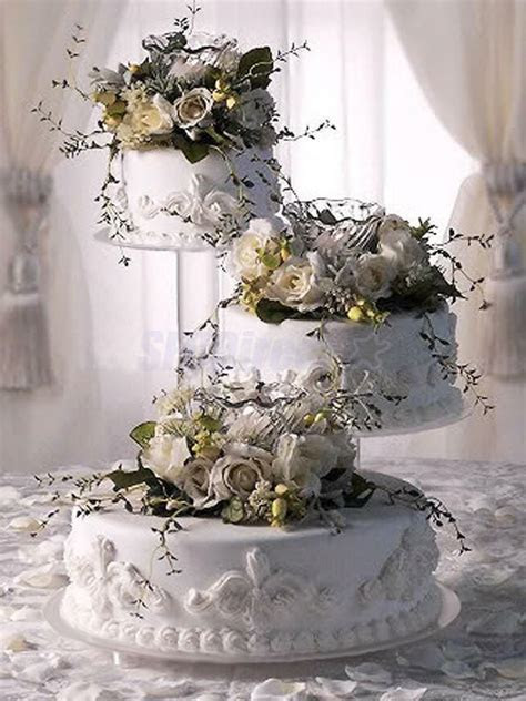 3 Tier CASCADE CAKE STAND CLEAR ACRYLIC CUPCAKE CAKE