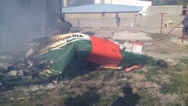 La avioneta que cayó en Las Heras, Santa Cruz. (Foto: Twitter)