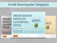 Fresh powerpoint Template - GraphicRiver Item for Sale