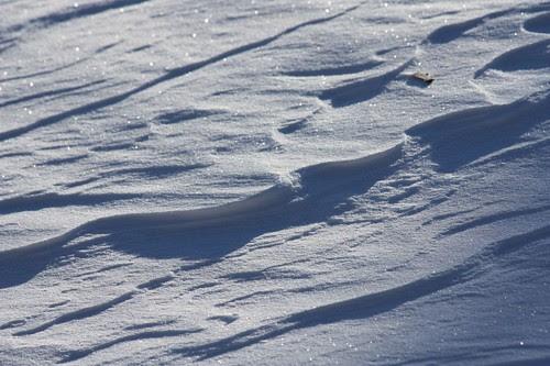 drifting snow.