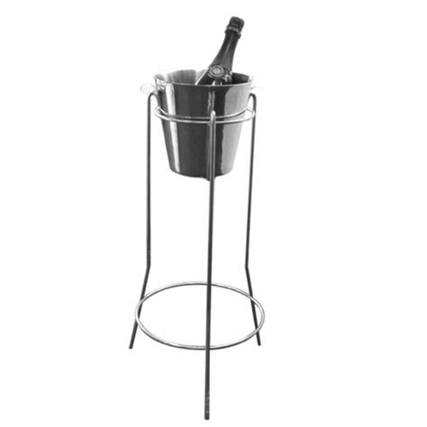 stainless steel wine ice bucket stand freemans party