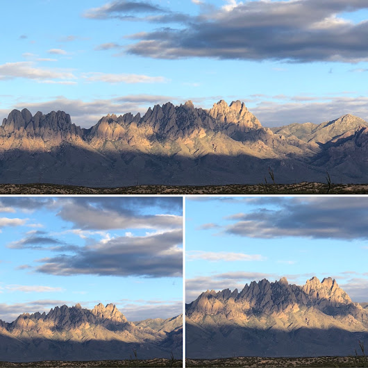 Shadowing on the Organ Mountains-Desert Peaks