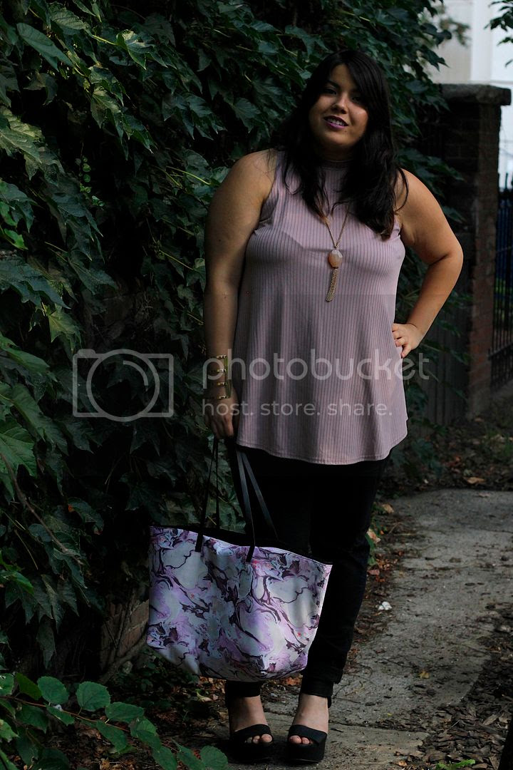 yours clothing NYFW fgnyfw plus size fashion plus size ripped denim lilac tank charlotte russe new york city plus size fashion