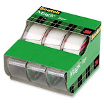 """Scotch 3105 Magic Invisible Tape With Dispenser, 3/4"""" X 300"""", 3-pack"""