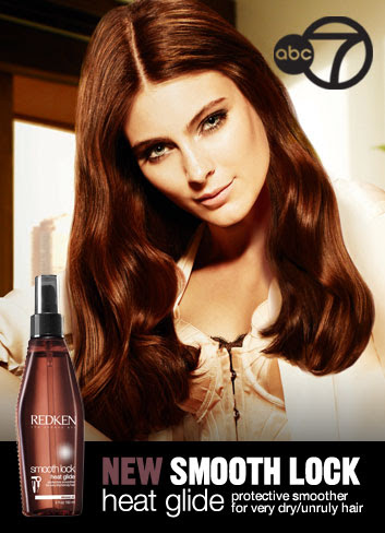 reduce frizz and styling time with Smooth lock service and heat glide serum by Redken